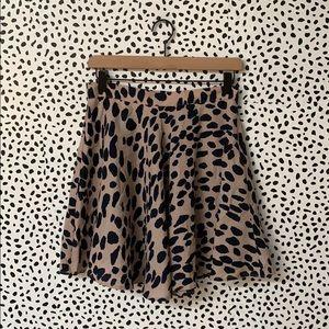 Speckled Dalmatian Print Skater Skirt
